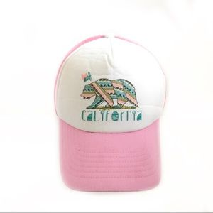 Youth pink adjustable California hat